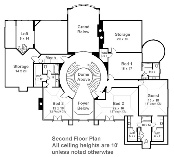 Clarendon Court 6013 4 Bedrooms And 4 Baths The House Designers