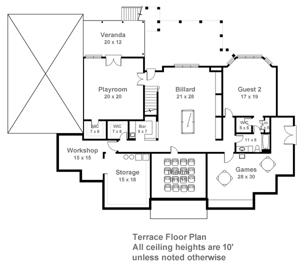 Craigleigh   Bedrooms and Baths   The House DesignersTerrace Floor Plan