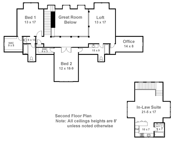 2nd Floor Plan image of Hartwell