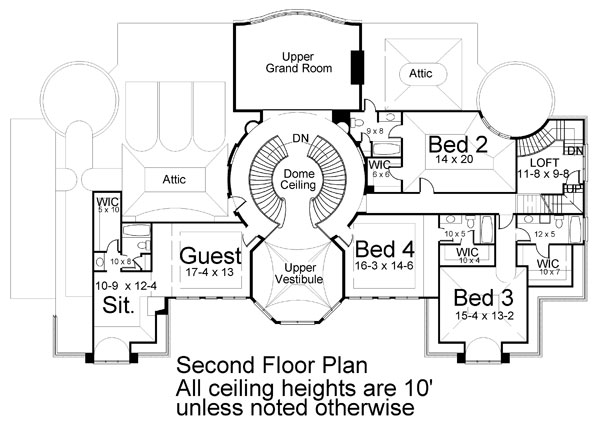 2nd Floor Plan image of Park Place House Plan