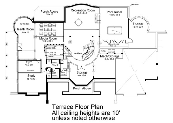Park Place 6034 - 5 Bedrooms and 5 Baths | The House Designers on angular house plans, box house plans, linear house plans, angled house plans, rectangle house plans, arc house plans, trapezoid house plans, circle house plans, simple house plans, octagon house plans, sphere house plans, pentagon house plans, vertical house plans, decagon house plans, cross section house plans, flex house plans, polygon house plans, square house plans, cylindrical house plans, sip house plans,