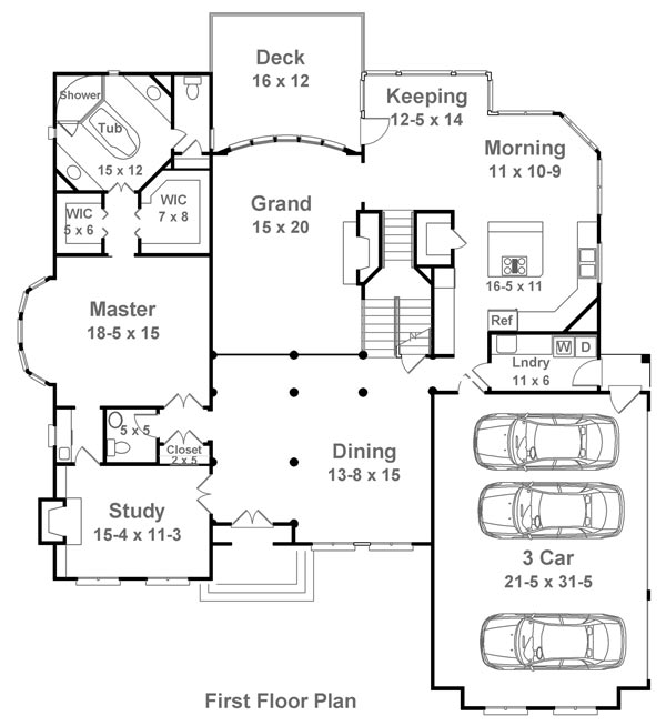 Westoak 1851 5 bedrooms and 4 baths the house designers for 1200 post oak floor plans