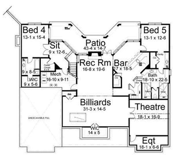 Waterford 6476 3 Bedrooms and 2 Baths The House Designers