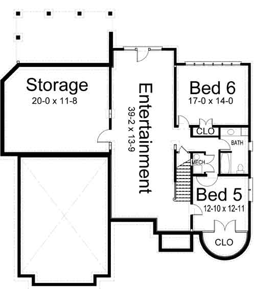 blanchard 6874 4 bedrooms and 3 baths the house designers