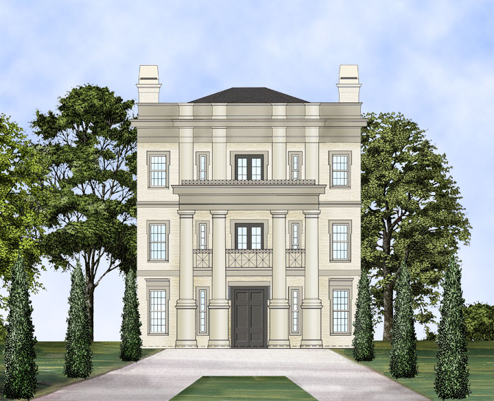 Balleroy 7928 4 bedrooms and 3 baths the house designers for Neoclassical house plans