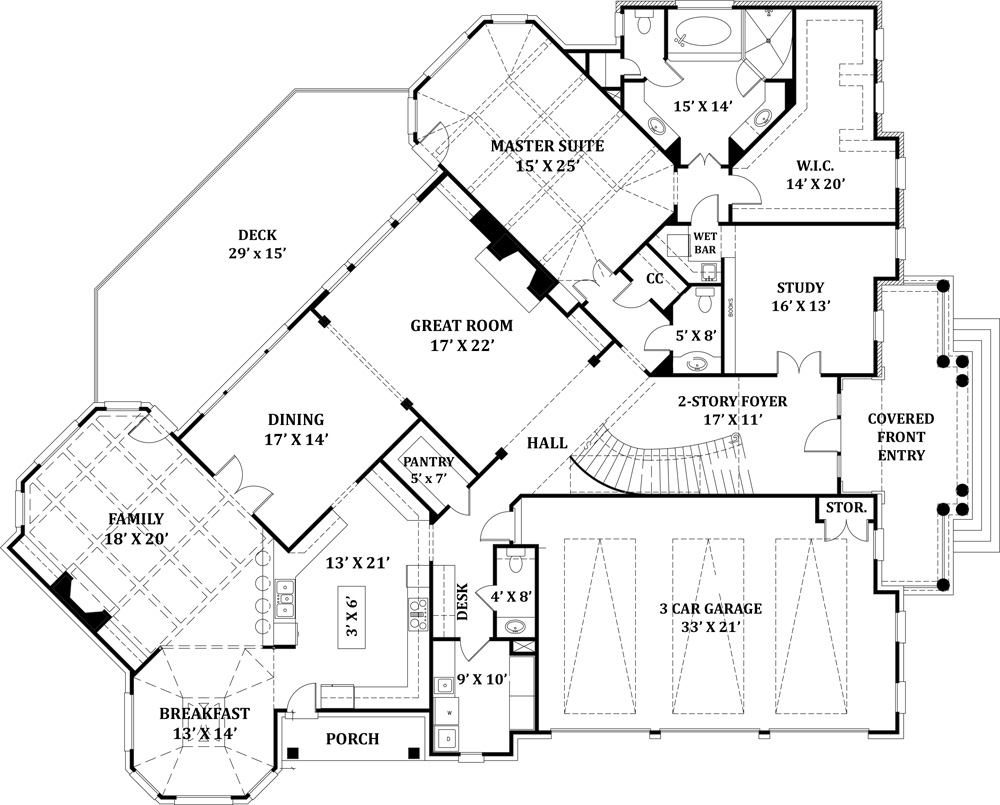 Delano 8229 on 2 story house blueprints