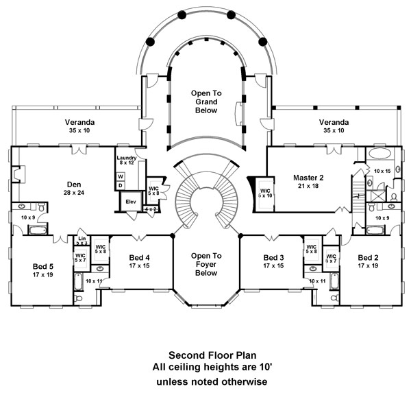 Doneraile court 6138 6 bedrooms and 6 baths the house for Second floor plans home