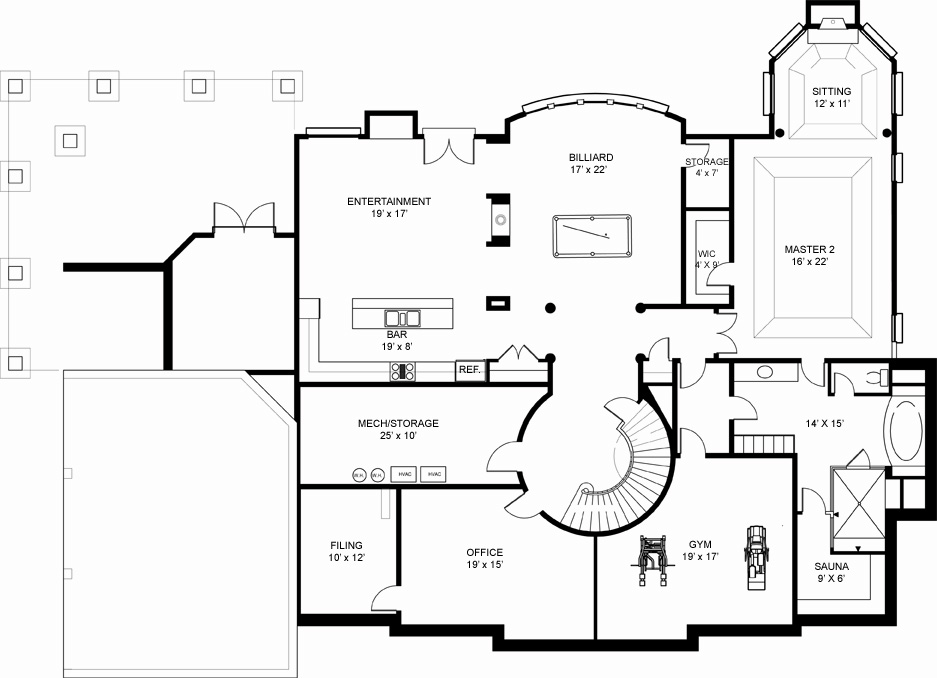 5 bedroom house plans with basement fairview 7971 5 bedrooms and 5 baths the house designers 26334