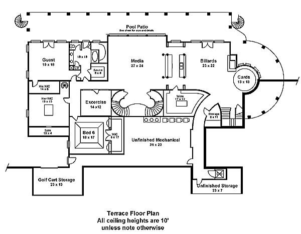 Fountainbleau Terracesfw Fountainebleau 6046 5 Bedrooms And 5 Baths The House Designers On Salon Blueprint Maker