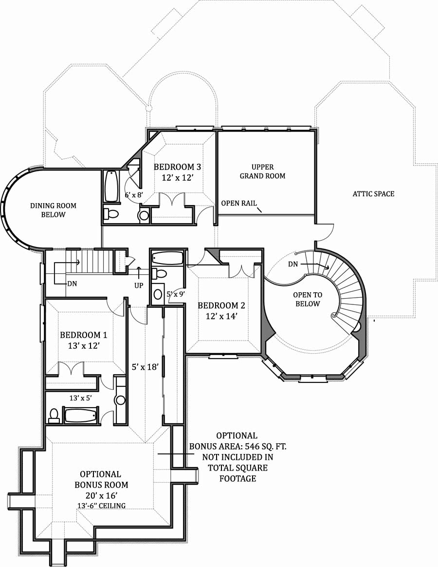 Hennessey house 7805 4 bedrooms and 4 baths the house for Hous plans