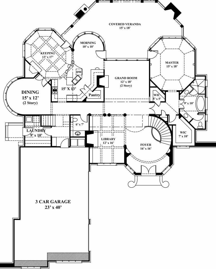 Courtyard home plan houses plans designs Courtyard house plans