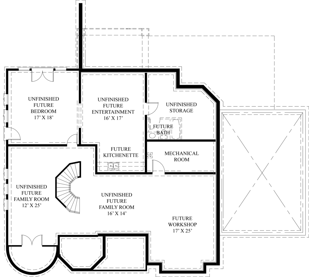 European house plan with two master suites for European house plans with basement