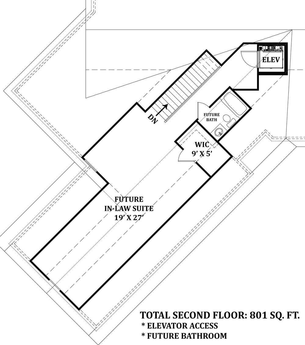 Universal design accessible luxury home plan for Mayberry house plan
