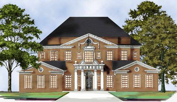 Monclay 7897 4 bedrooms and 3 baths the house designers for Mega house plans