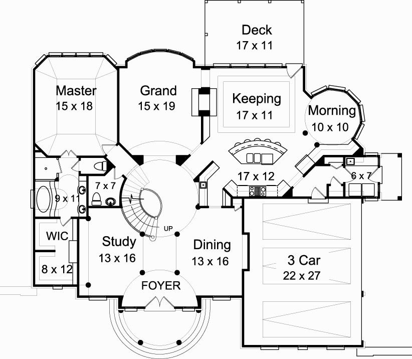 first floor plan - Vienna House Plans