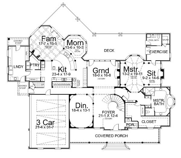 Anderson estate 7446 4 bedrooms and 5 baths the house Estate home floor plans