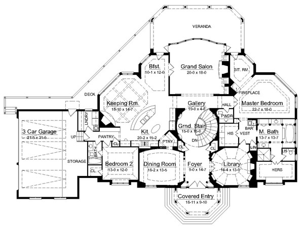 Avanleigh estate 6009 4 bedrooms and 4 baths the house Estate home floor plans