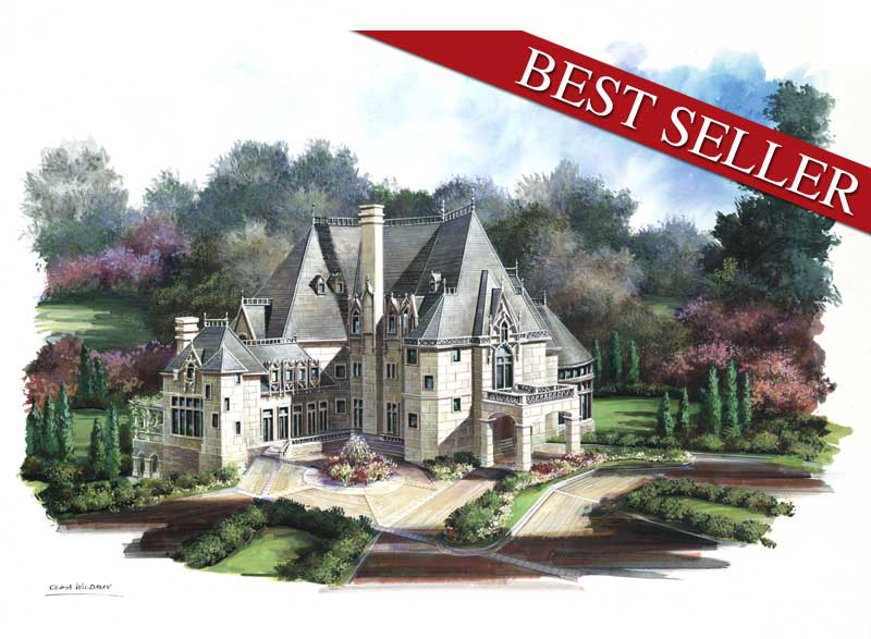 Chateau novella 6039 6 bedrooms and 6 baths the house for French chateau floor plans