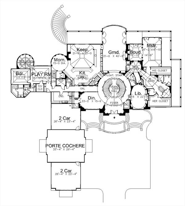 1st Floor Plan image of Caserta House Plan