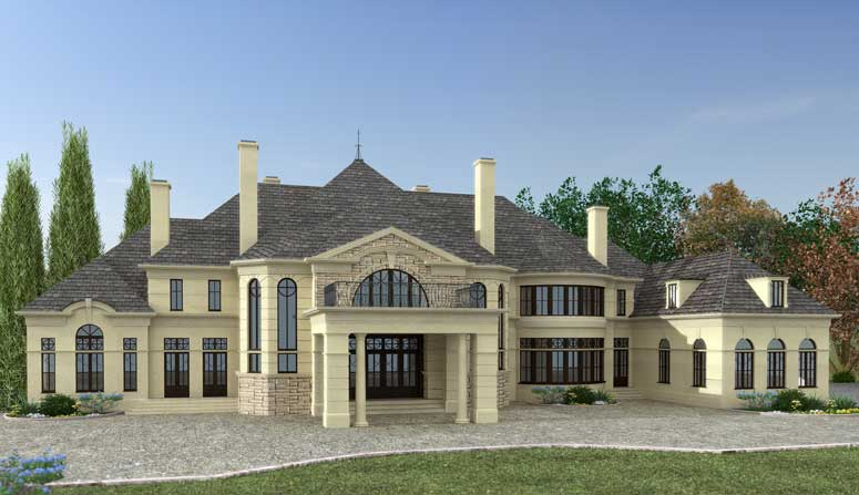 Free home plans porte cochere home plans for Chateau novella