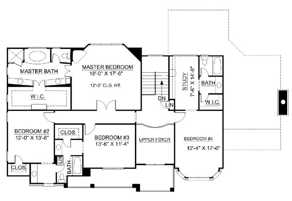 2nd Floor Plan image of Galloway House Plan