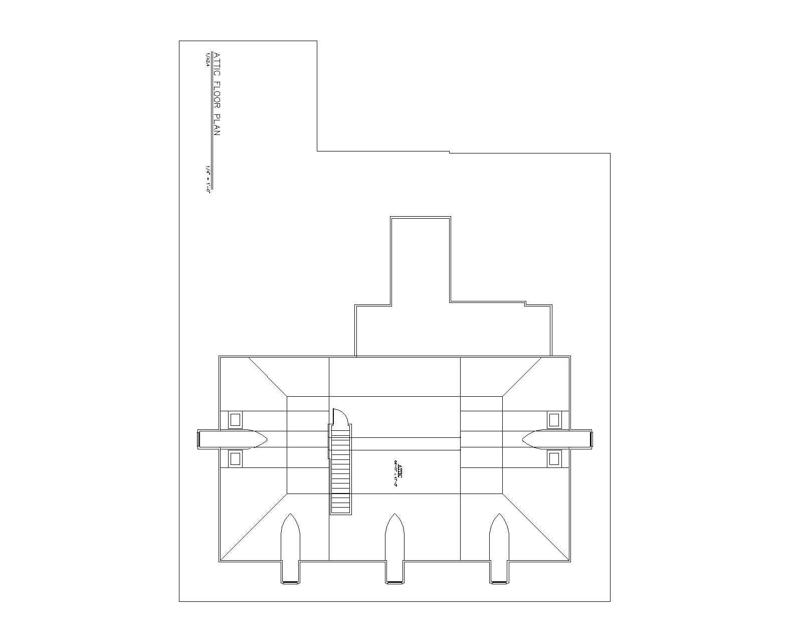 3rd Floor image of Houmas House House Plan