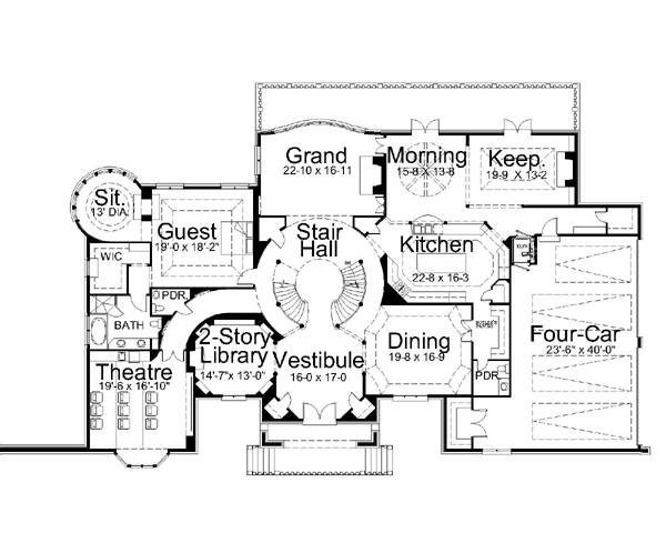 Castle floor plans over 5000 house plans for Castle home floor plans