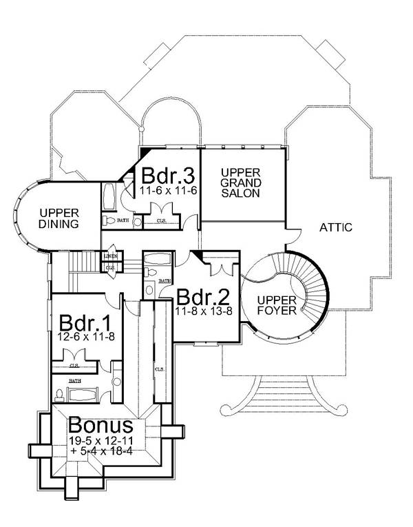 Potilia 6151 4 Bedrooms And 4 5 Baths The House Designers