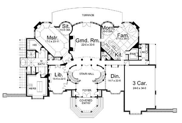 Chateau de josselin 6036 3 bedrooms and 3 baths the for Chateau blueprints
