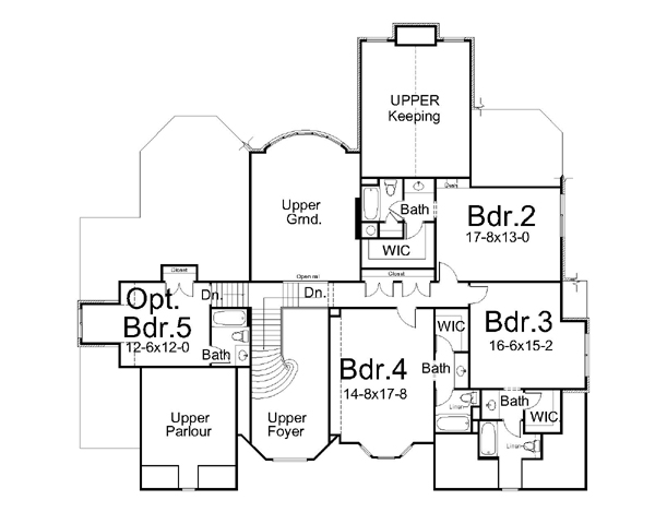 2nd Floor Plan image of Glenveagh Castle House Plan