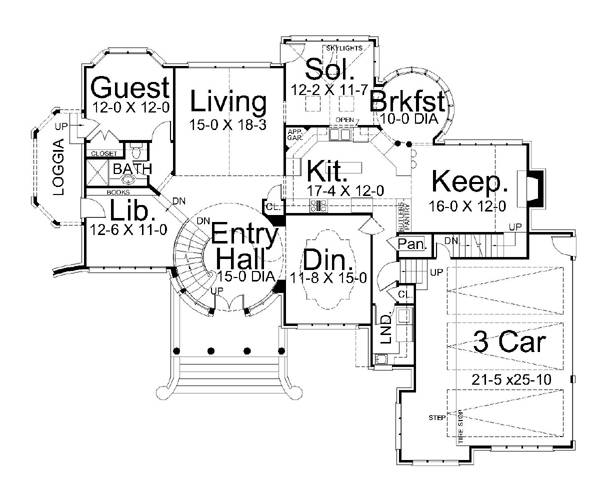Kildare castle 5997 5 bedrooms and 4 5 baths the house for Castle plans build
