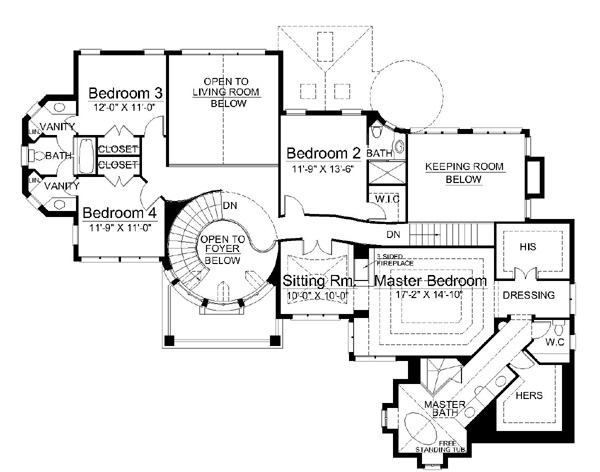 Kildare castle 5997 5 bedrooms and 4 5 baths the house for Castle blueprints and plans