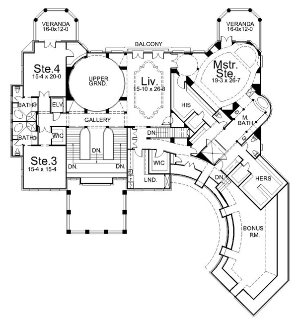 All Architectural Designing Villa Cornaro House Plan
