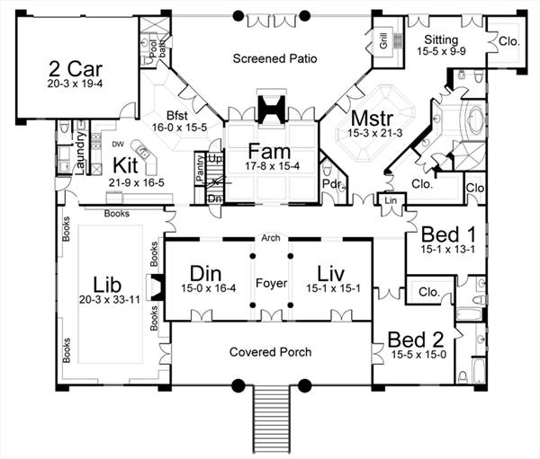 Willow creek 8043 3 bedrooms and 3 baths the house for The willow house plan