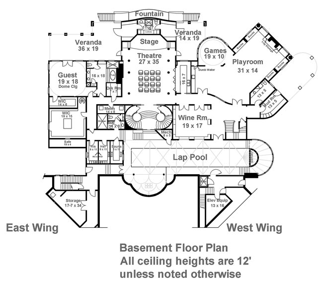 Basement Floor Plan image of Balmoral