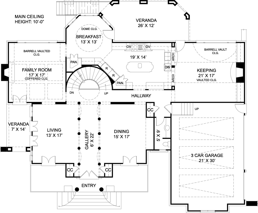 Chiswick house 7939 4 bedrooms and 3 baths the house designers - Home design blueprints ...