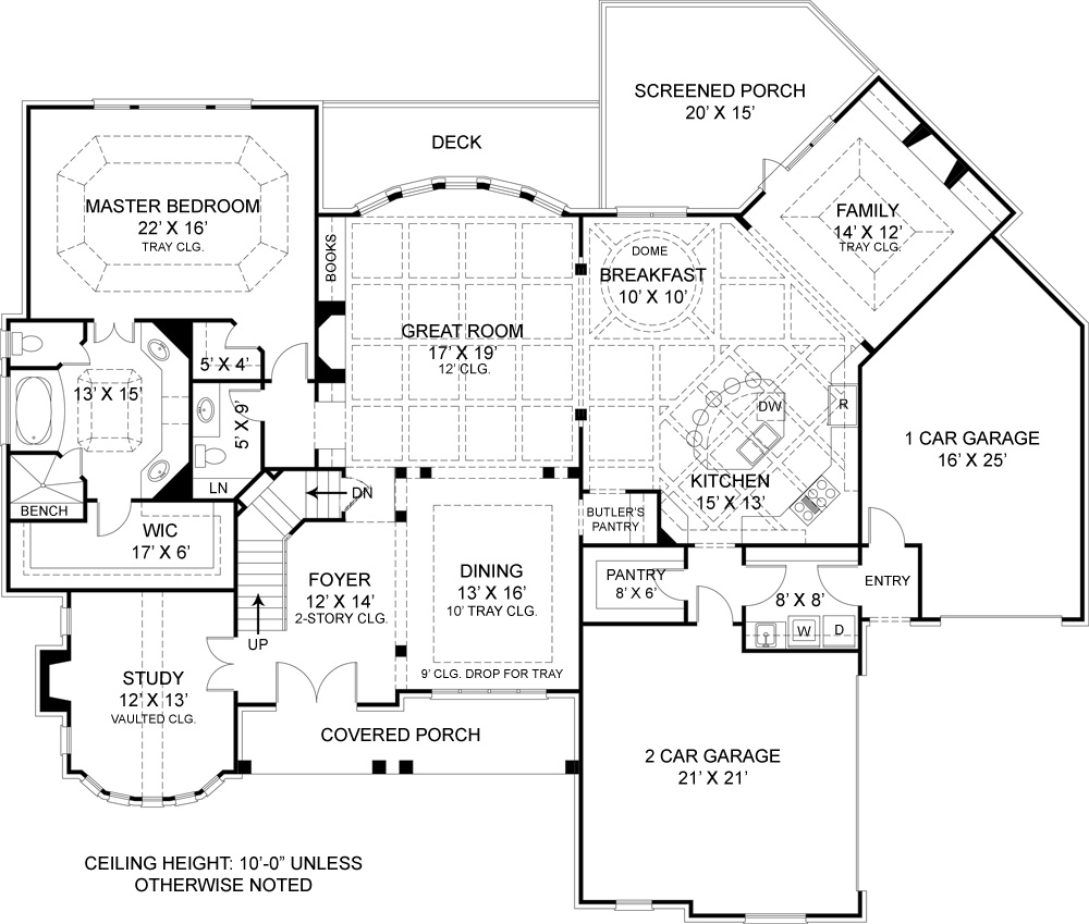 Drewnoport 7395 4 bedrooms and 4 baths the house designers Floor plan view
