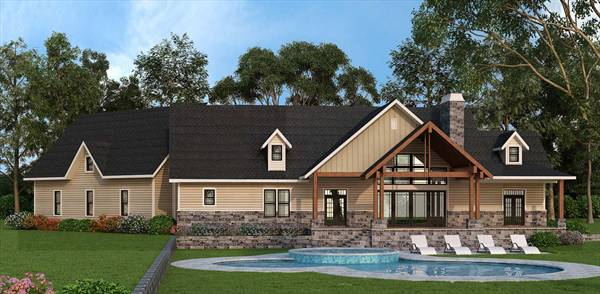Fairhope 5527 3 bedrooms and 2 baths the house designers for Fairhope house plan