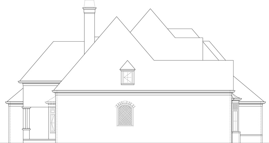 Left Elevation Plan : Chesterfield bedrooms and baths the house
