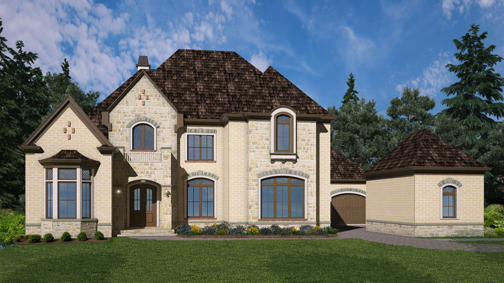 European two story house plan for 2 story european house plans