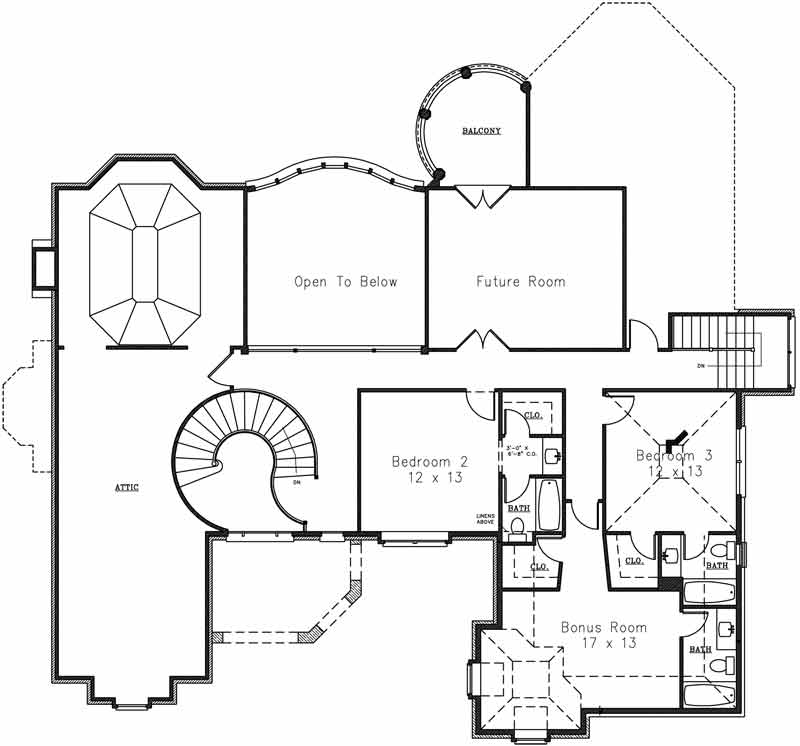 Classical luxury house plan for Floor 2nd