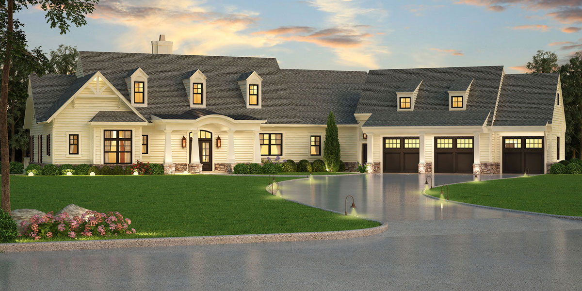 Craftsman house plan with in law suite for Multi generational product plan
