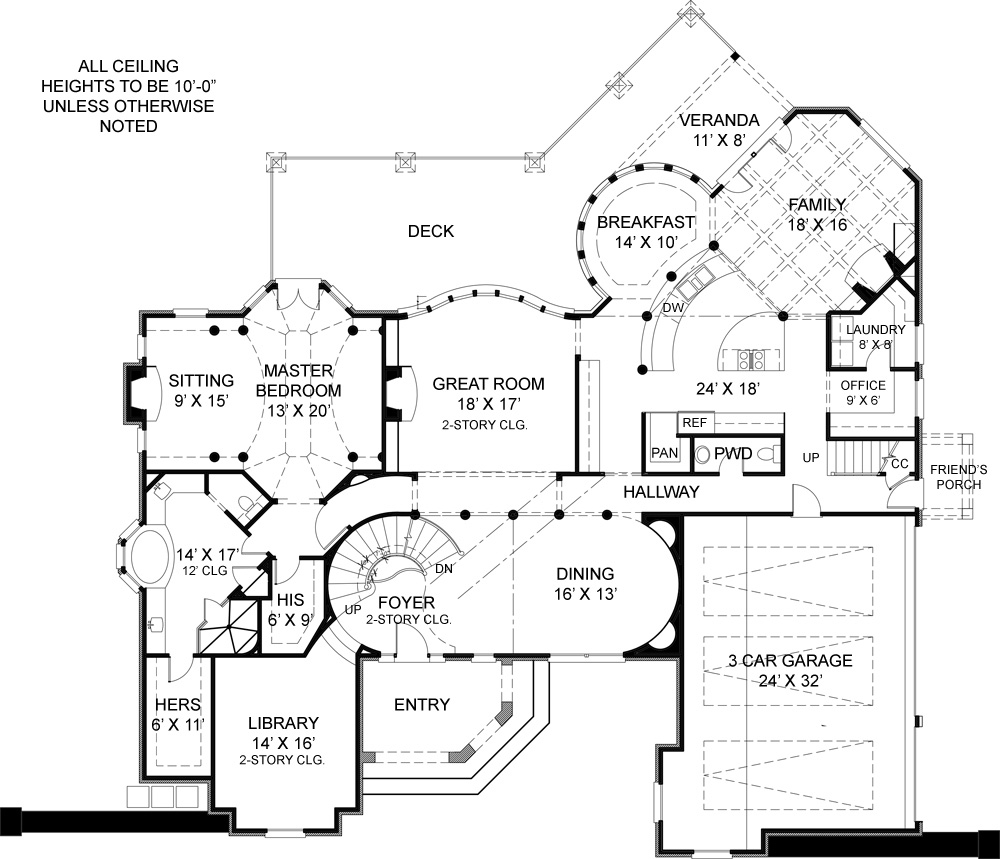 First Floor Plan image of Pontarion II House Plan