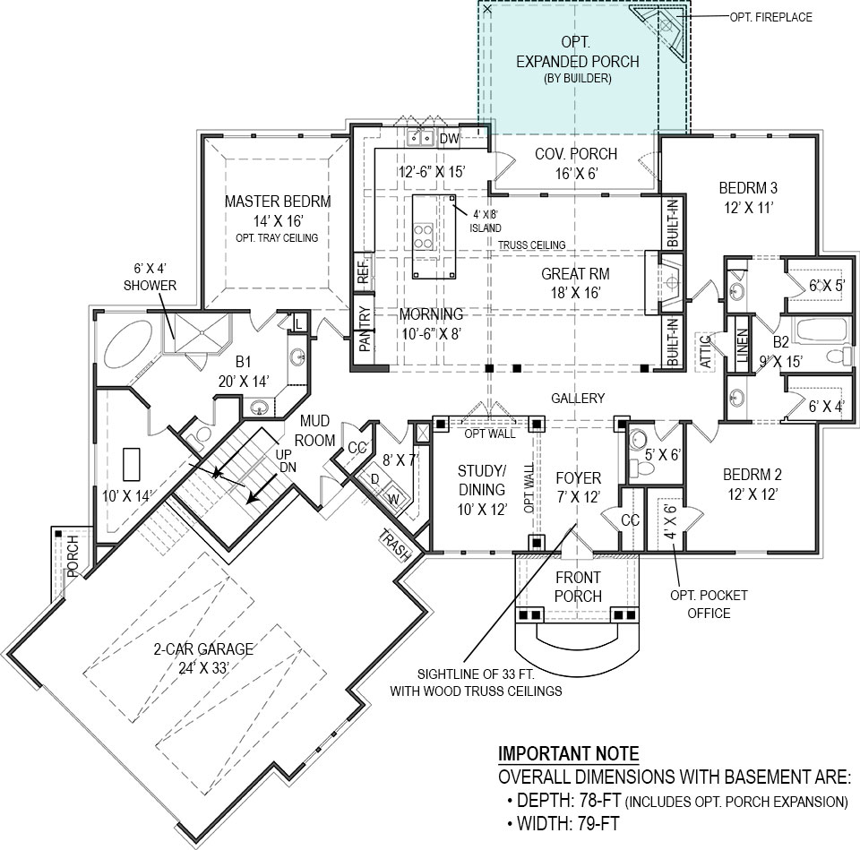 First Floor Plan for Basement