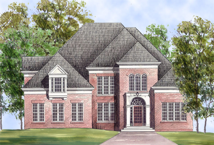 Rosewell 5971 4 bedrooms and 3 baths the house designers American dream homes plans