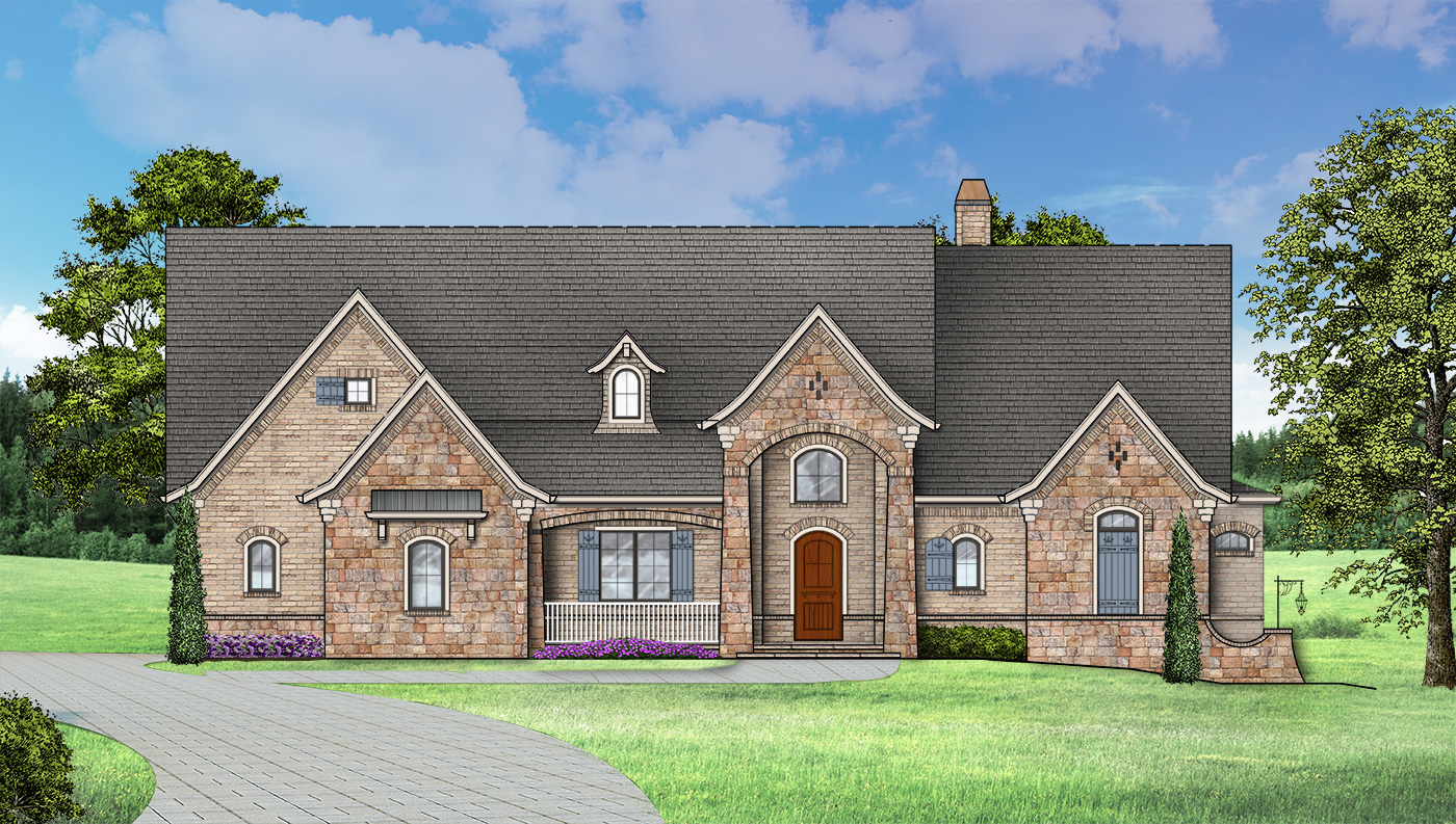 ranch house plan with optional 4 bedroom