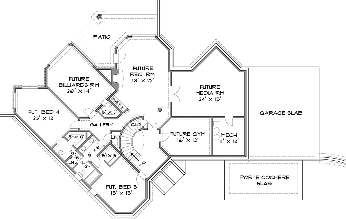Basement image of Stone Pond House Plan