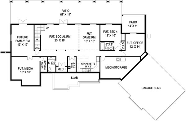 house plans with daylight basement daylight basement house plan 24181