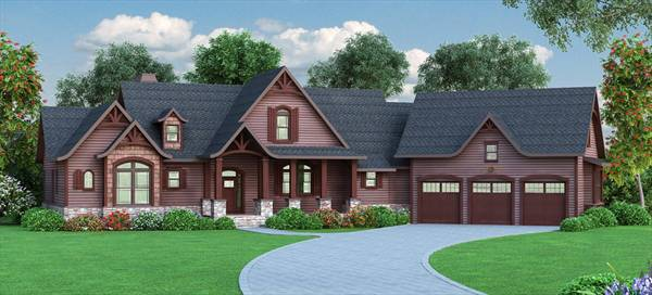 top three craftsman house plans - the house designers