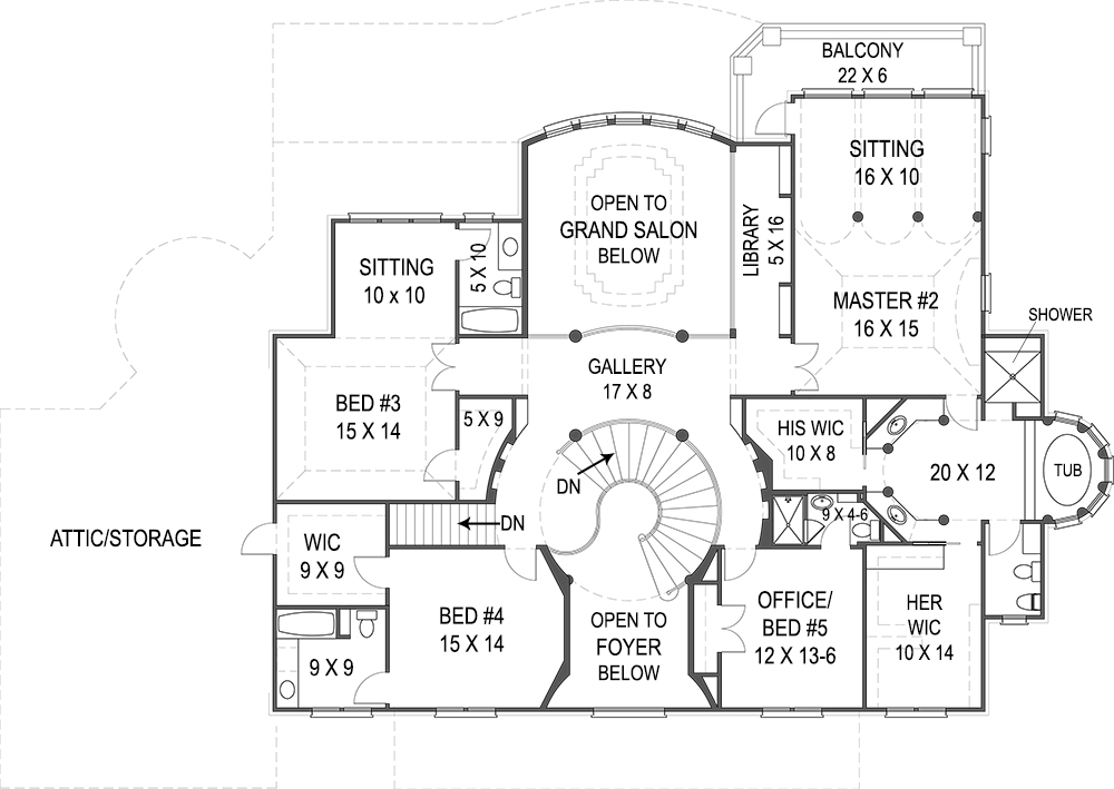 vinius 8079 - 5 bedrooms and 4 baths | the house designers